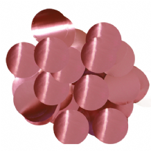 Metallic Light Pink Foil Confetti | 25mm Metallic Round | 50g Bag